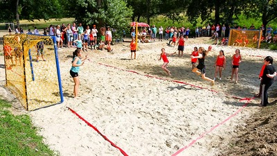 Handball goes outdoor - Challenge und Rabatte
